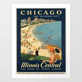 Vintage poster - Chicago Art Print