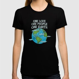 One Love One People Planet Climat Change Earth Day T-shirt