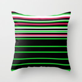 Bright Stripes II Throw Pillow
