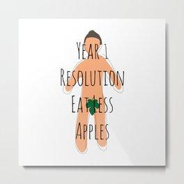 Year 1 Resolution Metal Print