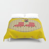 socks Duvet Covers featuring socks by ValoValo