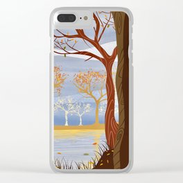 Autumn Leaves Autumn Woods Clear iPhone Case