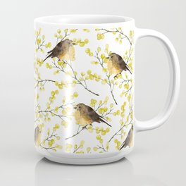 Mimosa and birds Coffee Mug