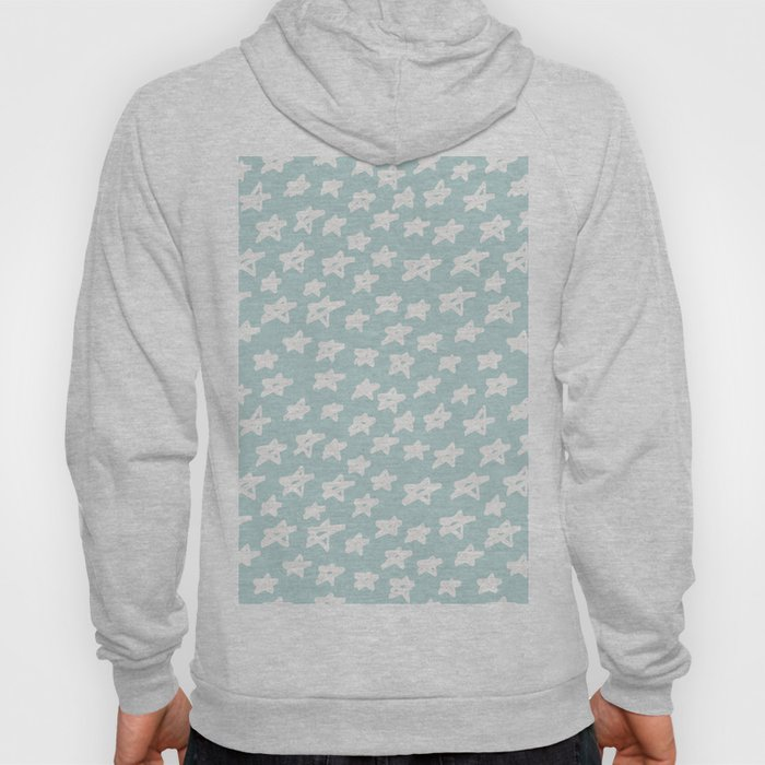 Stars on mint background Hoody