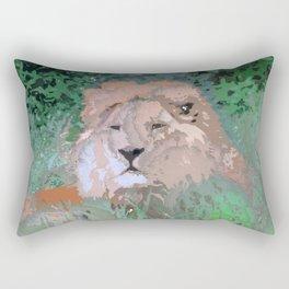 Crazy Paint - Lion Rectangular Pillow