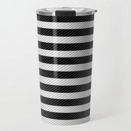 Sleepy Black and White Stripes Travel Mug