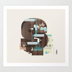 Resort Type - Letter S Art Print