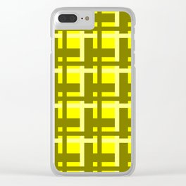 Plaid -- Yellow Clear iPhone Case
