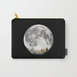 Sleeping cat with the Moon Carry-All Pouch