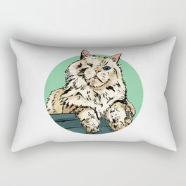 Zombie the cat Rectangular Pillow