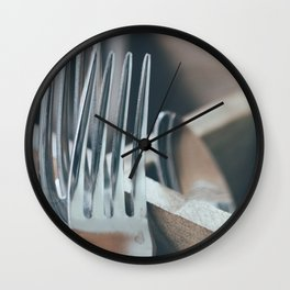 The Spooning Forks Wall Clock