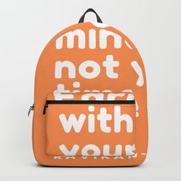 Naval Ravikant Quote | Earn with your mind, not your time Backpack
