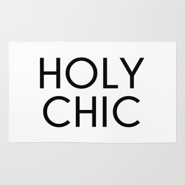 Holy Chic Funny Quote Rug