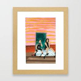 porch bed Framed Art Print