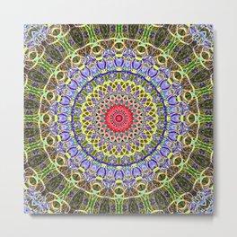 Juicy Liquid Paint Mandala Savour The Gooey Detail Seven Metal Print