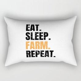 Eat Sleep Farm Repeat Farmer Farming Rectangular Pillow