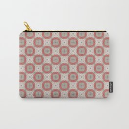 Coral Geometric Pattern # 2 Carry-All Pouch