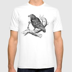 Raven's Key MEDIUM Mens Fitted Tee White