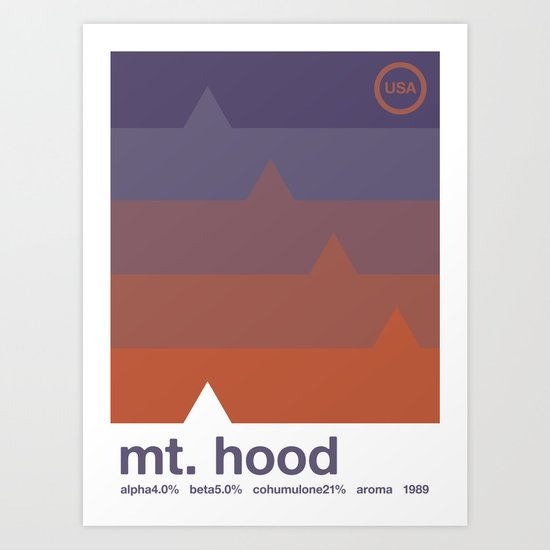 mount hood single hop Art Print
