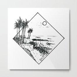 Kauai's shore Metal Print