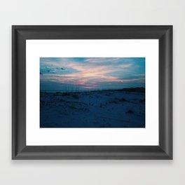 Sand Dunes at Sunset Framed Art Print