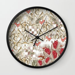 Pomegranate juice in the garden Wall Clock