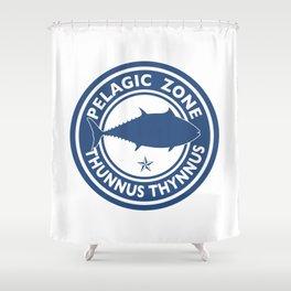 Graphic Bluefin Tuna Design Shower Curtain