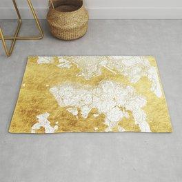 Hong Kong Map Gold Rug