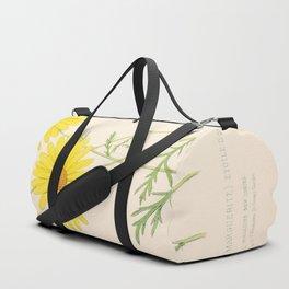 Chrysanthemum Vintage Floral Flower Hand Drawn Scientific Illustration Duffle Bag