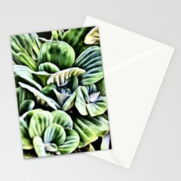 Water Lettuce Painting Stationery Cards