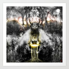 Utiseta - working in gratitude with the land, her teachers & wards... Art Print