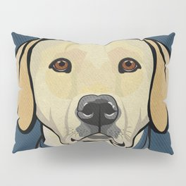 Icons of the Dog Park: Yellow Labrador Design in Bold Colors for Pet Lovers Pillow Sham