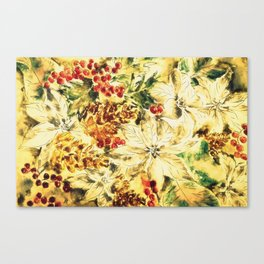 Lovely Retro Christmas Decor Canvas Print