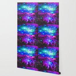 Fox Fur Nebula Galaxy Pink Purple Blue Wallpaper