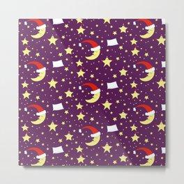 Night, stars and moon Metal Print
