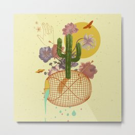 SPACE TIME DESERT Metal Print
