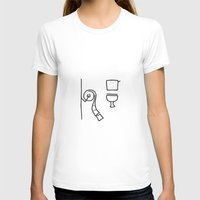 toilet T-shirts featuring toilet by Lineamentum
