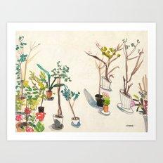Potted Plants Art Print