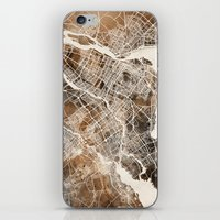 montreal iPhone & iPod Skins featuring Montreal by Map Map Maps