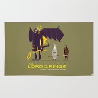 aragorn Area & Throw Rugs featuring Pixel Art Lord Of The Rings by LoweakGraph