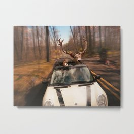 Drive and Let Live Metal Print