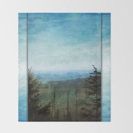 View from Clingman's Dome Tennessee Smoky Mountains Throw Blanket