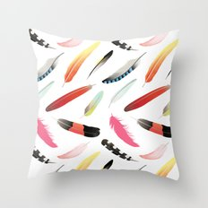 Falling Like Feathers Throw Pillow