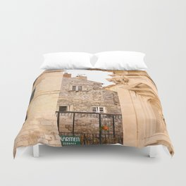 Terrace in Old Town Europe #decor #society6 #buyart Duvet Cover