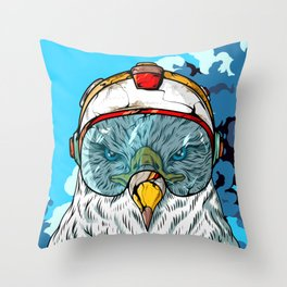 SKY DEFENDER Throw Pillow
