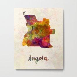 Angola in watercolor Metal Print