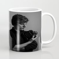 shameless Mugs featuring Shameless Self Portrait by Sam Breen