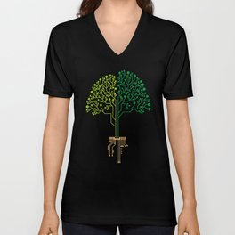 Technology Tree Unisex V-Neck
