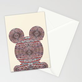 Perception: Checkered red and grey creature Stationery Cards