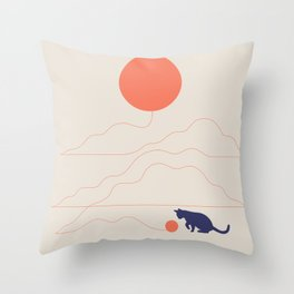 Cat Landscape 41 Throw Pillow